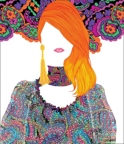 Hiroshi Tanabe - YSL illustration, 2016