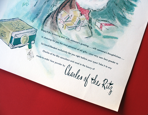 Charles of the Ritz ad, 1947 - detail