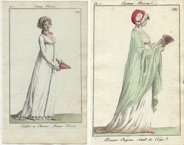 French fashion plates, ca. 1798