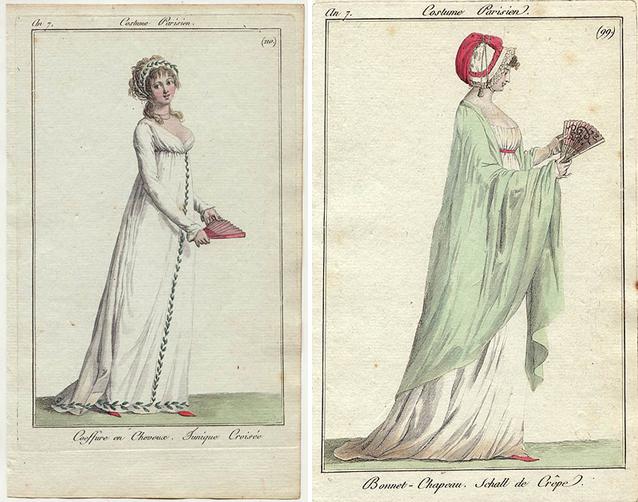 French fashion plates, ca. 1798