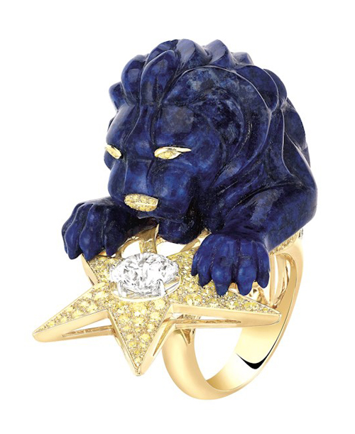 Chanel lion ring