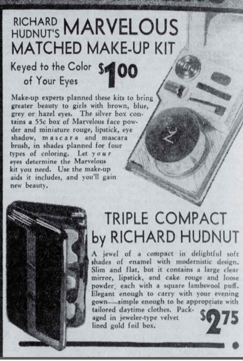 Richard Hudnut compact ad, October 1936