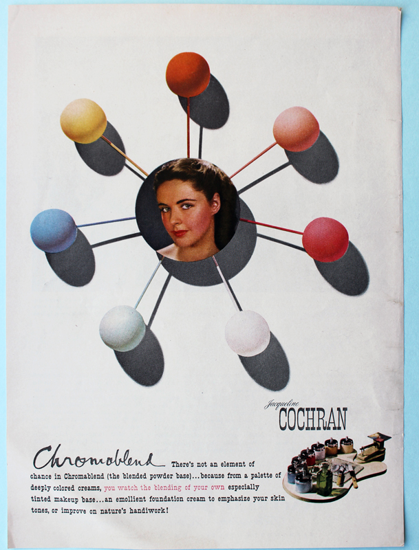Jacqueline Cochran ad designed by Paul Rand