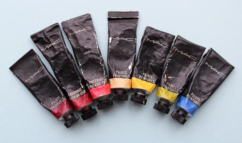 MAC paint tubes
