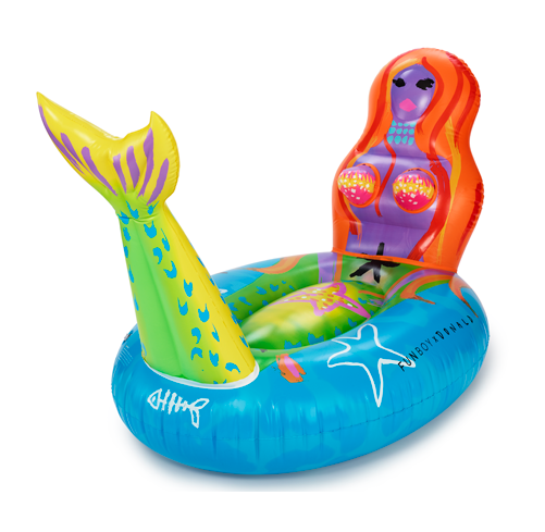 Funboy x Donald Robertson mermaid pool float