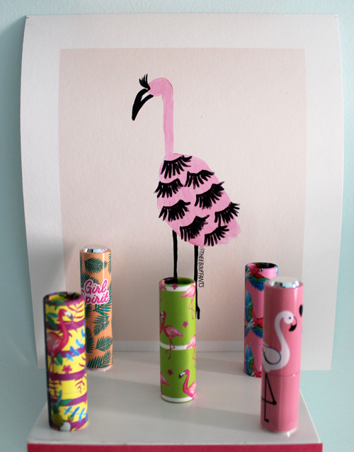 Lash Flamingo print by Kendra Dandy