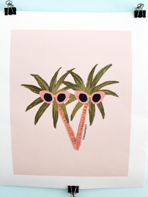 Sunny Palms print by Kendra Dandy