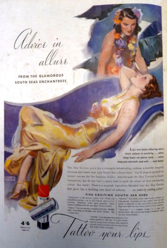 Tattoo ad, 1937