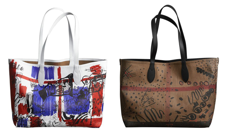 Burberry Doodle tote bags