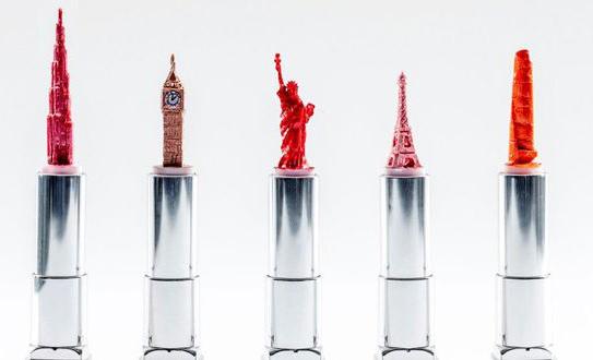 Hedley Wiggan lipstick sculptures