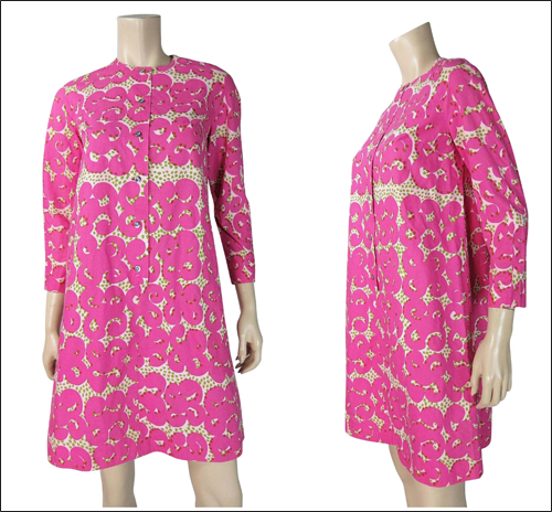 Vintage Marimekko dress, Tarha pattern