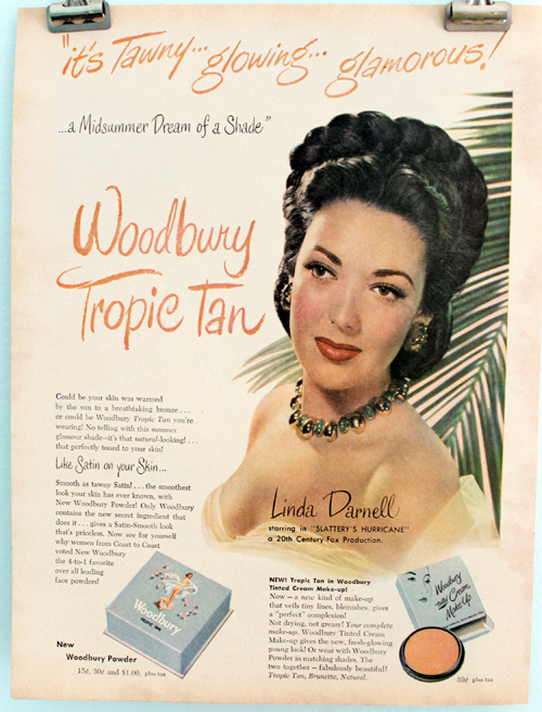 Woodbury Tropic Tan ad, 1949
