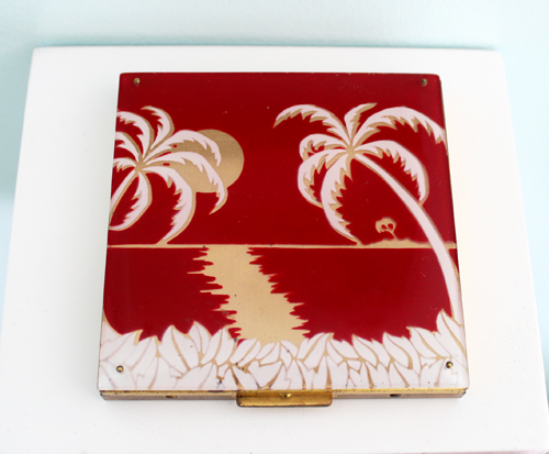 Vintage Rex palm tree compact