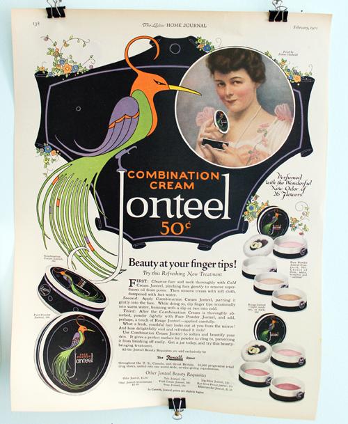 Jonteel ad, 1921