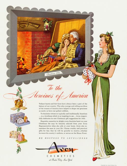 Avon Christmas ad, 1943