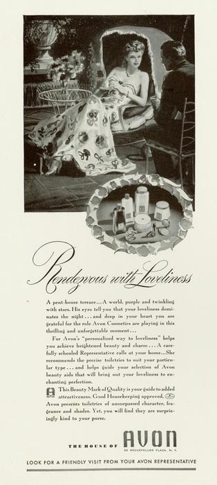 Avon ad, 1940
