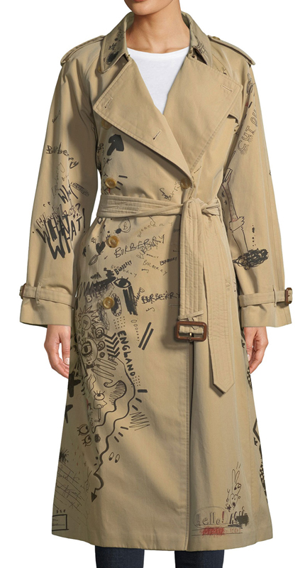 Burberry Doodle trench coat