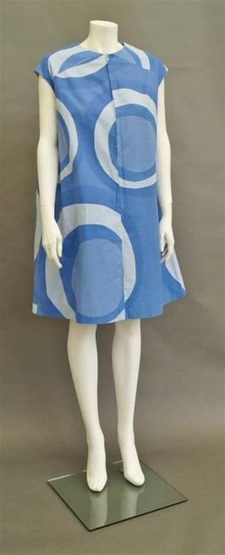 Marimekko Klaava print dress, ca. late 1960s