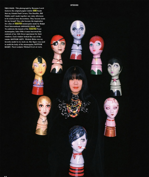 Original Anna Sui dolly heads