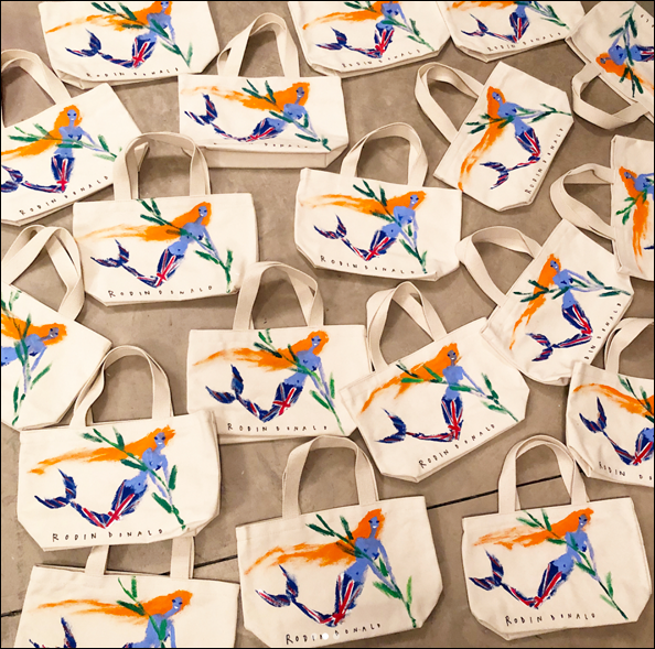 Donald Robertson - Liberty of London mermaid bags