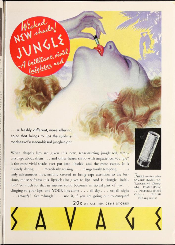 "Savage ""Jungle"" ad, 1935"