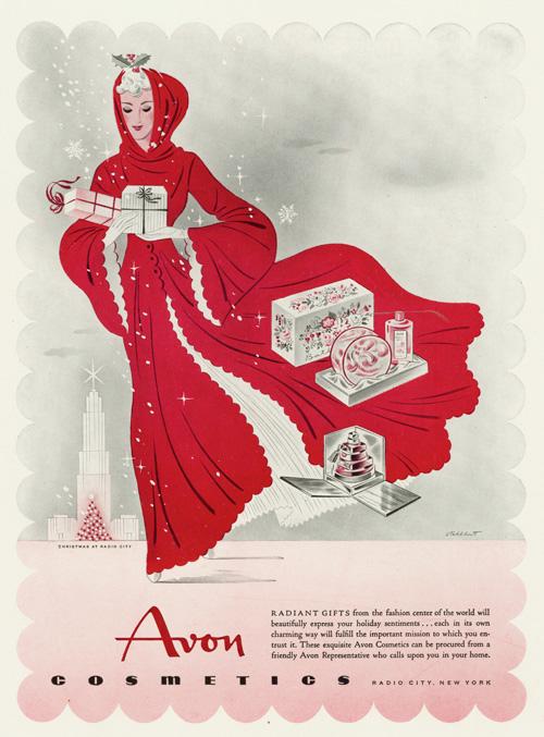 Avon Christmas ad, 1942
