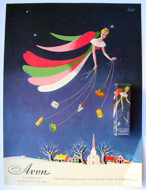 Avon Christmas ad, 1945