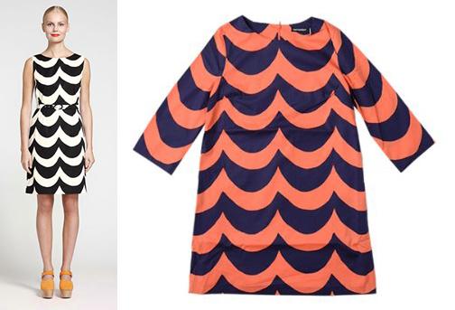 Marimekko dresses, Laine print