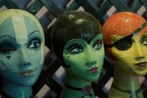Anna Sui papier-mache dolly heads