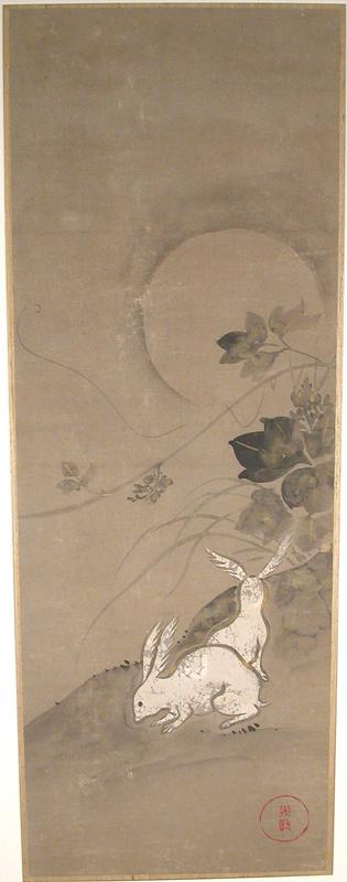 Rabbits by Ogata Kōrin (1658–1716)