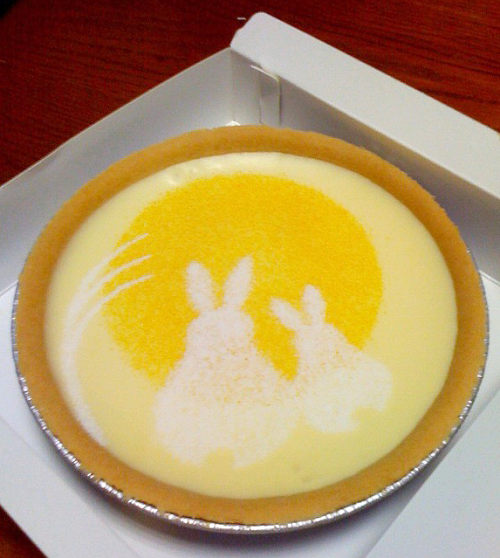 Moon rabbit egg tart