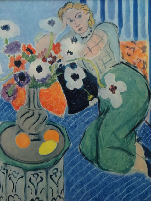 Henri Matisse, Anemones and Woman, Harmony in Blue