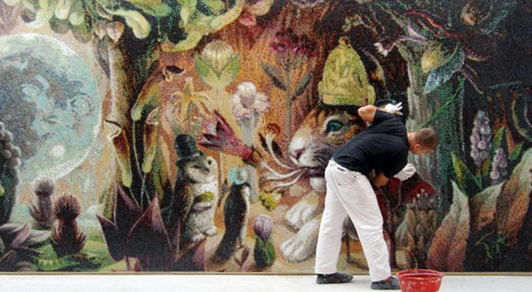 Marcel Wanders Secret Garden mosaic by Femke Hiemstra