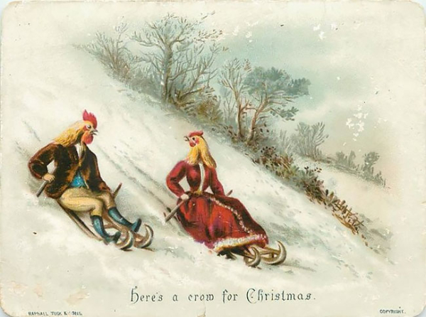 19th century greeting card
