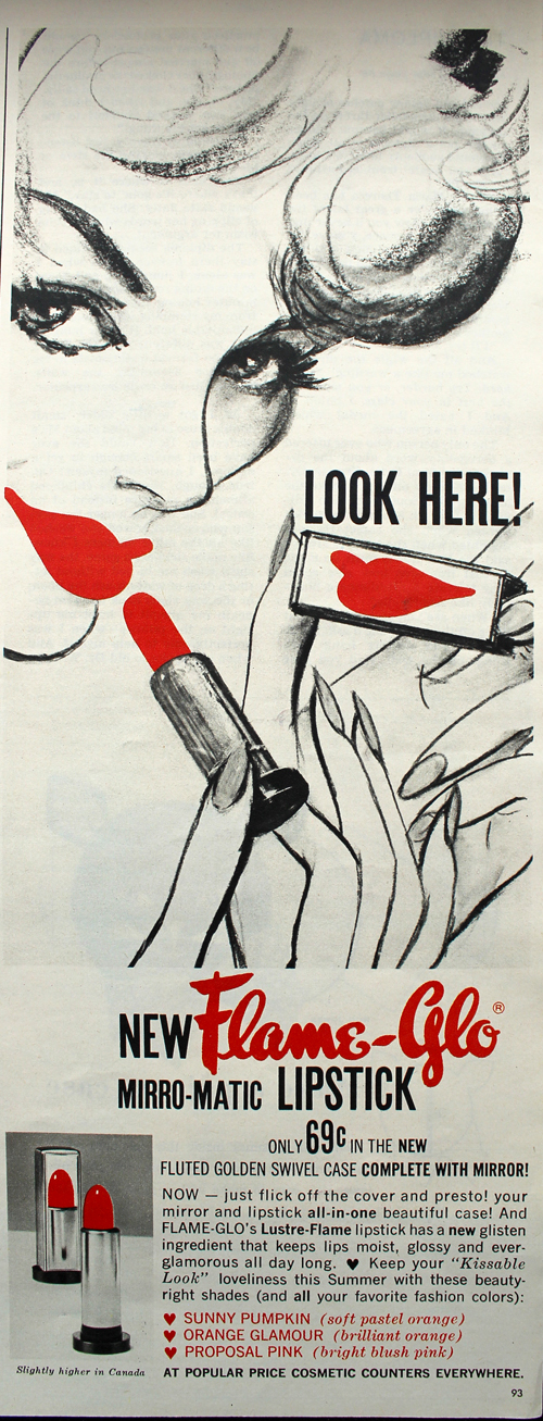 Flame Glo mirro-matic ad, July 1959