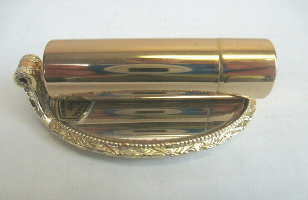 Vintage Schildkraut folding lipstick mirror