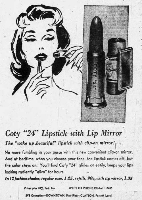 Coty24 ad, Feb. 13, 1957