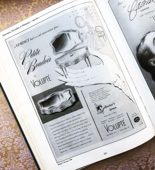 Volupté Petit Boudoir compact ad, 1950