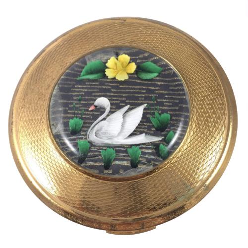 Kigu swan compact, ca. 1960s