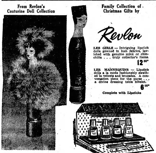 Ad for Revlon couturine lipstick, 1962