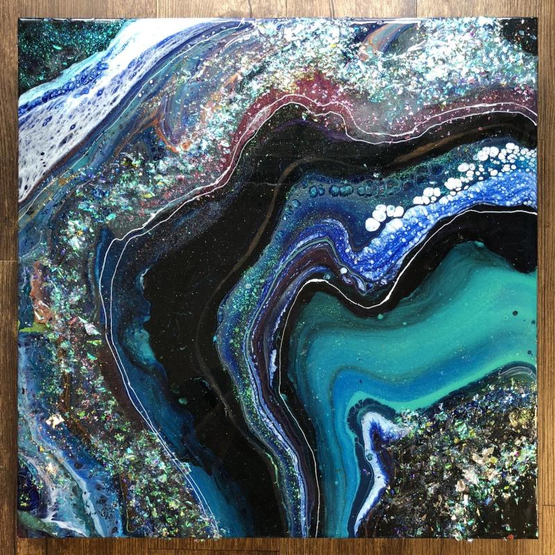 Kathryn Beals, Riverbed series 11 - green geode