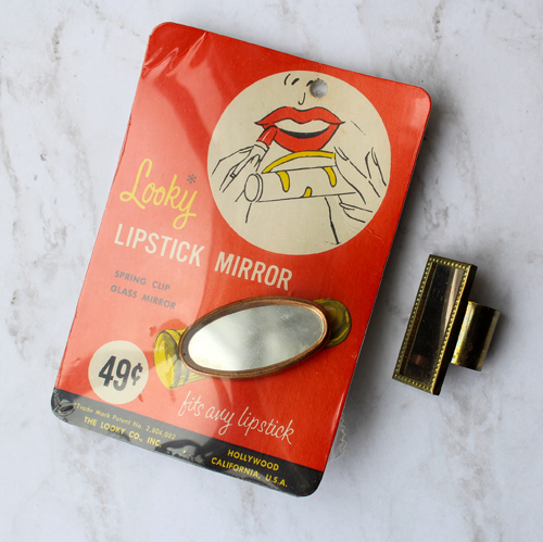 Vintage Looky and Compliments lipstick mirrors