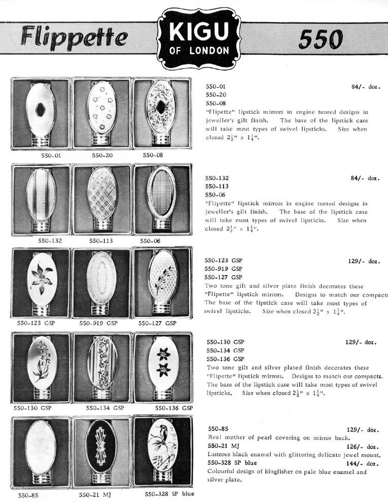 Kigu Flippette lipstick ad, 1964