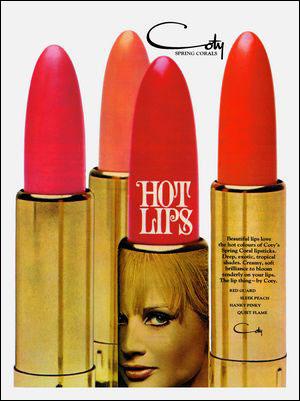 Coty lipstick ad, 1960s