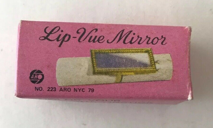 Vintage Lip Vue lipstick mirror clip on