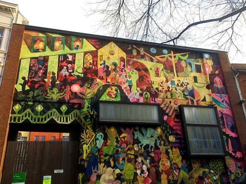 Brecht Evens - Culture Parade mural, Antwerp