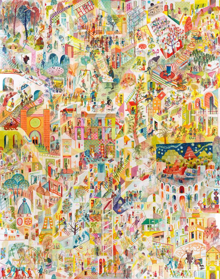 Brecht Evens, fresque for Actes Sud