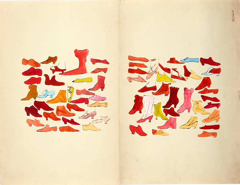 Andy Warhol shoe illustrations, 1955