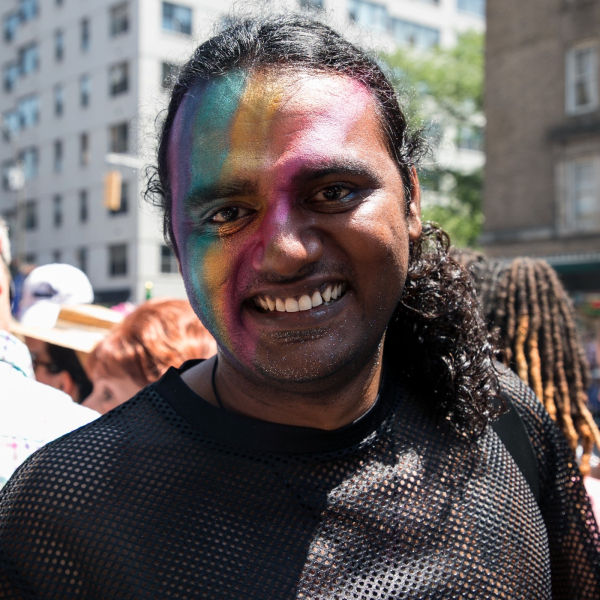 NYC Pride parade makeup, 2018