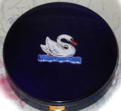 Vintage Evans swan compact, ca. 1940s